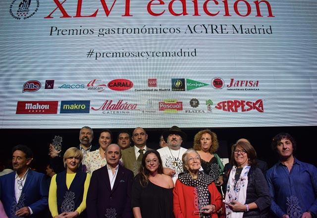 Premios Gastronómicos ACYRE Madrid 2017 en su Edición XLVI