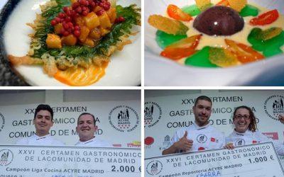 Restaurante El Pradal y A´Barra consiguen los premios a mejor cocinero y repostero de Madrid